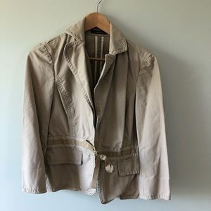 Tan Crop Trench or Jacket